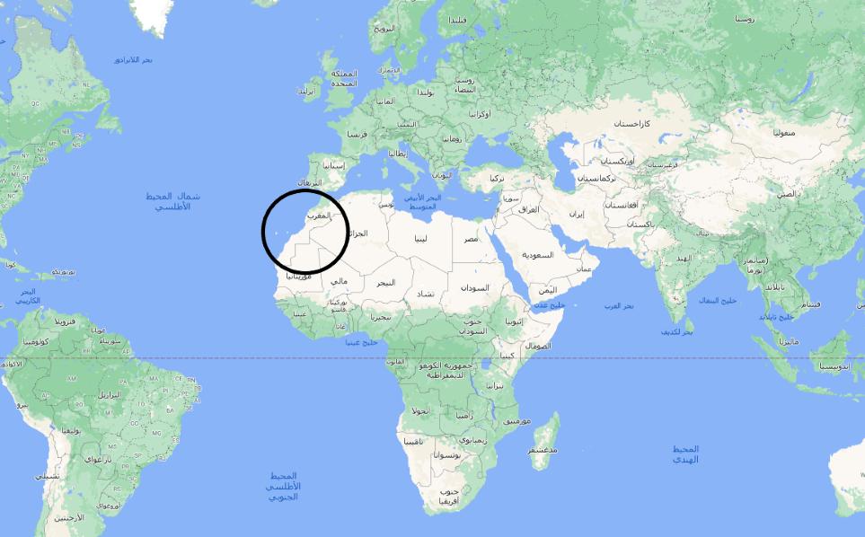أين تقع المغرب على الخريطة - انا مسافر