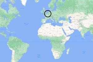 أين تقع بلجيكا على الخريطة
