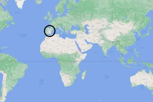 اين تقع إسبانيا على الخريطة