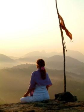 orang flag meditation