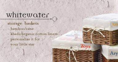 storage baskets and personalised liners