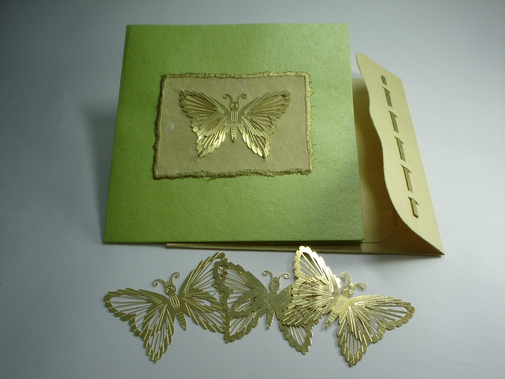 Brass Butterfly Card