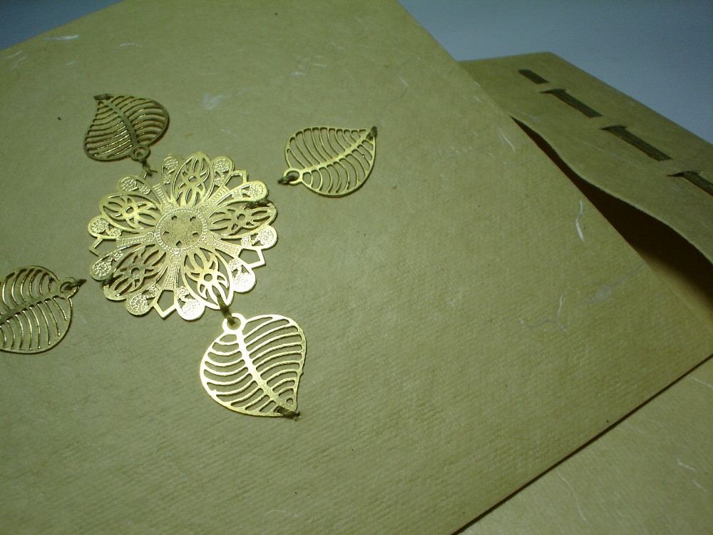 Brass Greeting Card