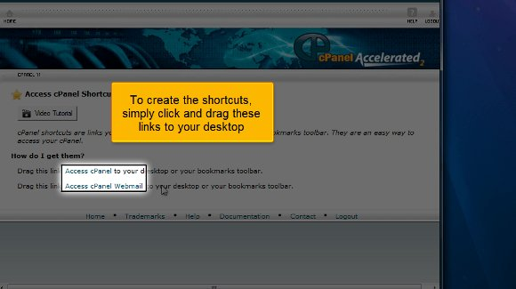cPanel add shortcuts