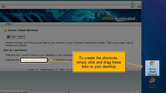 cpanel shortcuts