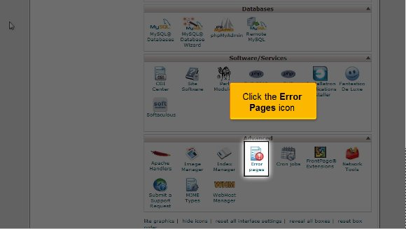 Create Custom Error Pages in cPanel