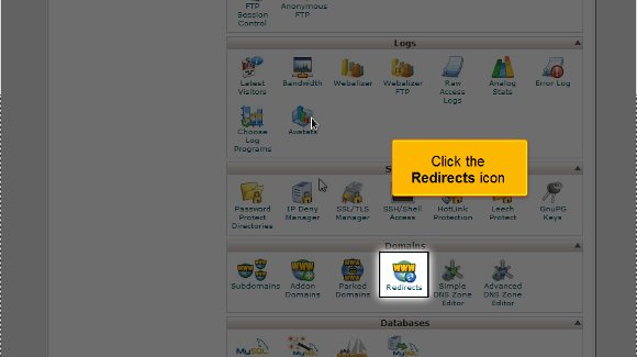 setup domain redirects in cPanel