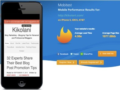 mobile-website-load-time-test