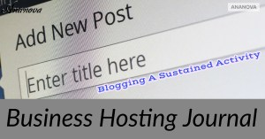 Blogging A Sustained Activity
