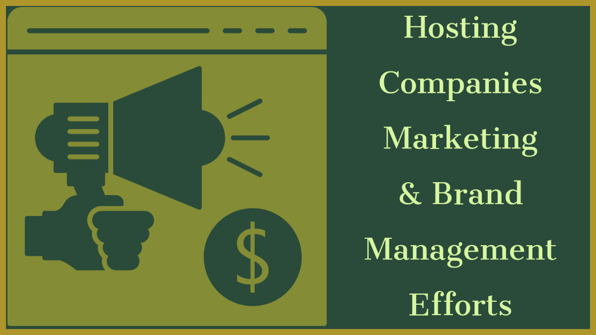 Hosting Companies Marketing & Brand Management Efforts