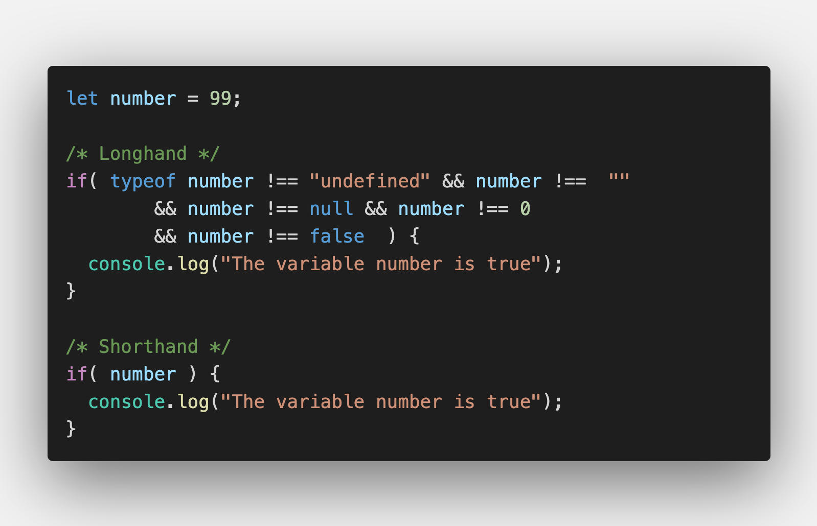 Javascript Shorthand Coding Techniques