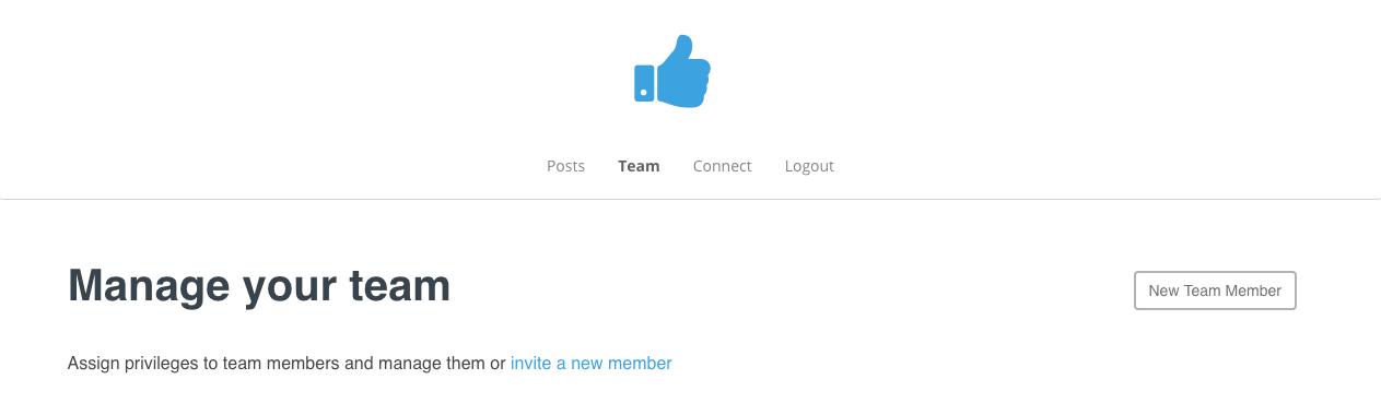 Manage Team Members