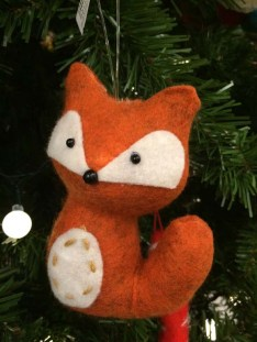 John Lewis at Christmas Felt Fox, Orange