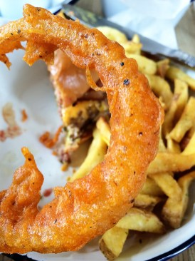 Honest Burgers, Kings Cross, London- Onion Ring Close Up