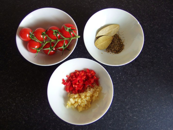 Lemon Pepper Chicken Salad with Tri-Color Noodles- Tomato Sauce