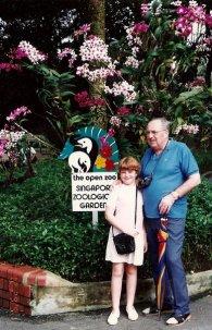 Singapore Zoo- Grandpa and Me
