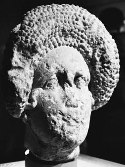 Exploring The Roman Baths- Godess Sculpture