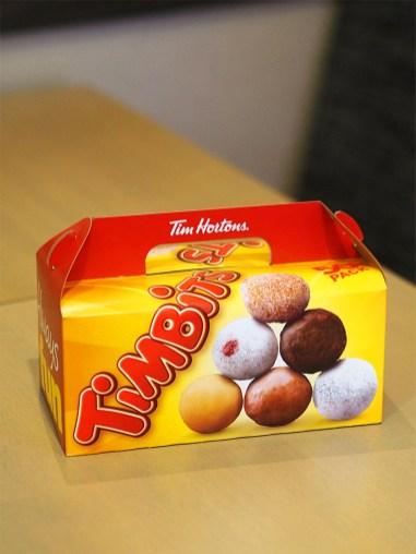 Tim Hortons Glasgow UK- Timbits Box