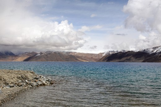 On the shores of the vast Pangong Lake