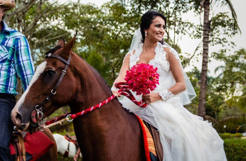 bride in a horse
