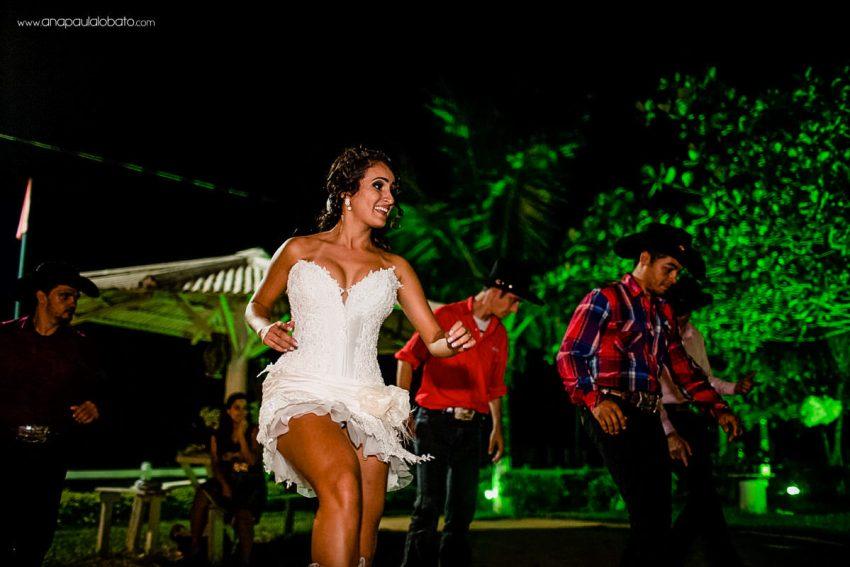 bride dancing country music