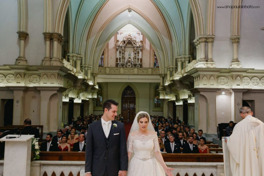 gorgeous classical wedding in church