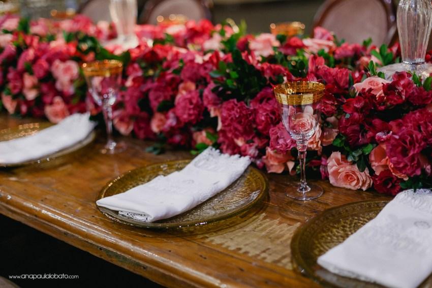 decoração casamento flores rosas