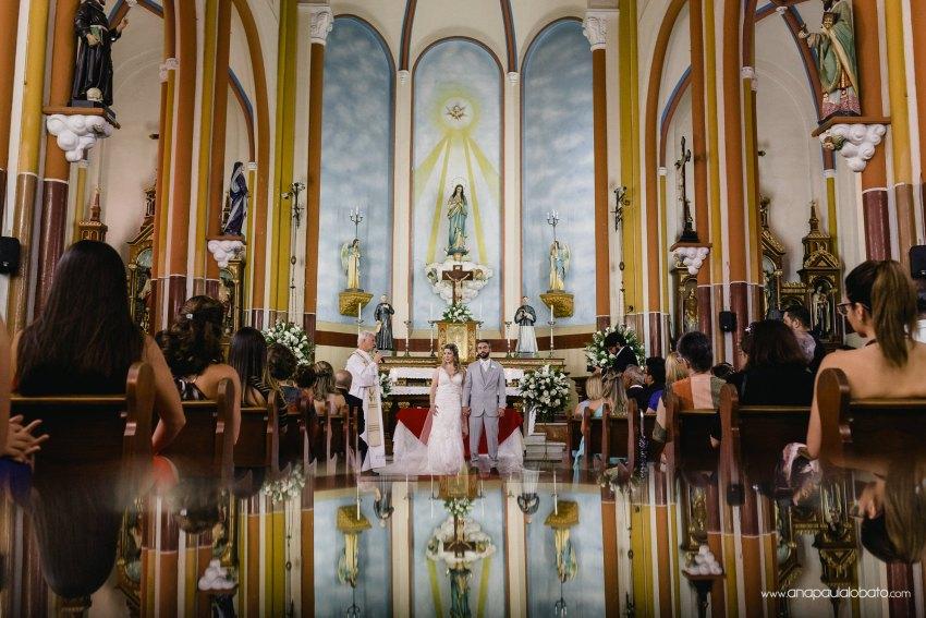 gorgeous church wedding photo