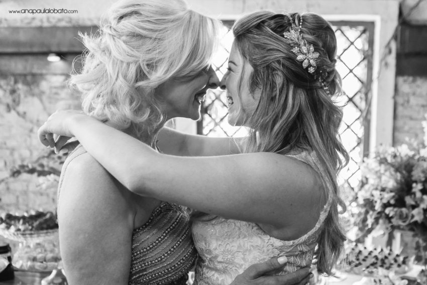 emotional moment between mother and bride