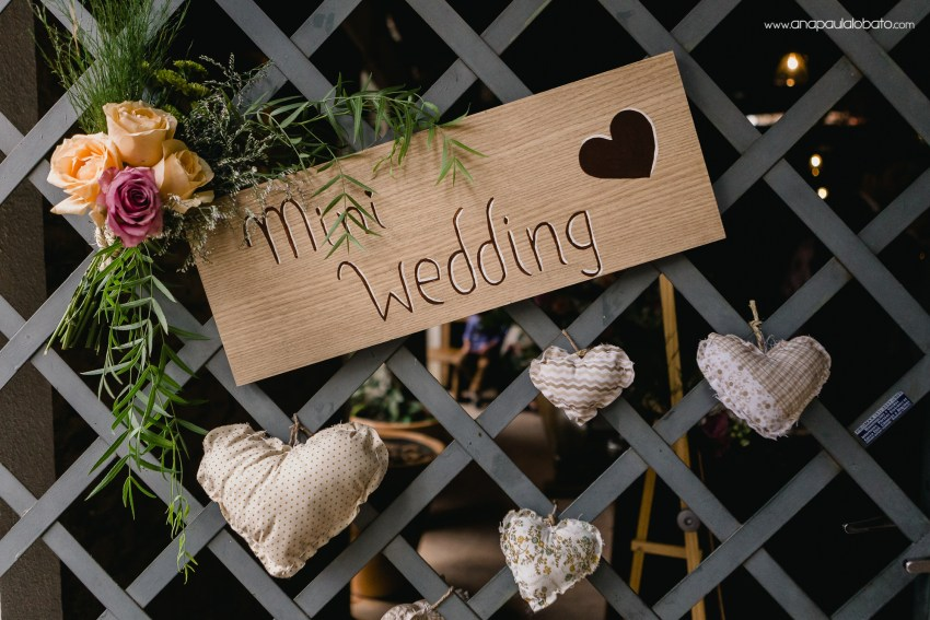 mini wedding sign