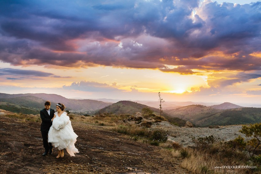 gorgeous sunset and couple