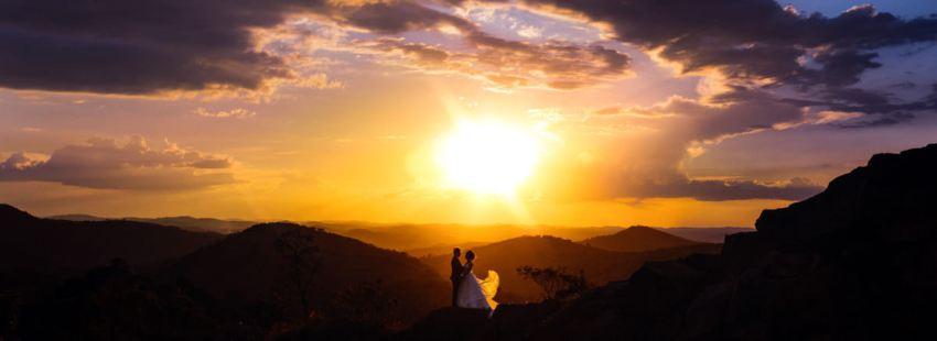 fotógrafo de casamento em BH faz incrível foto de montanhas de Minas