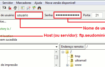 hospedagem de sites bh filezilla