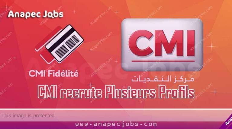 CMI recrute Plusieurs Profils