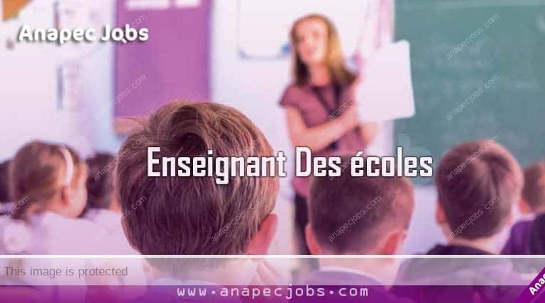 Enseignant Des écoles مدرسين ومربيات للتعليم الأولي