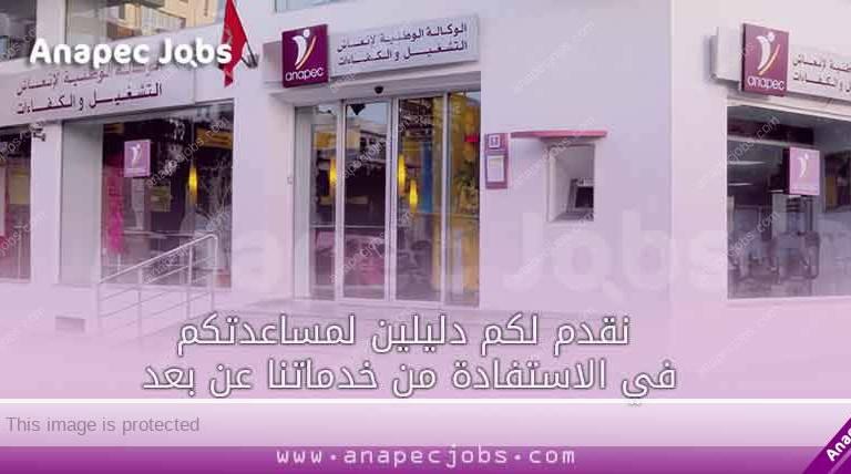نقدم لكم دليلين لمساعدتكم في الاستفادة من خدماتنا عن بعد anapec emploi privé