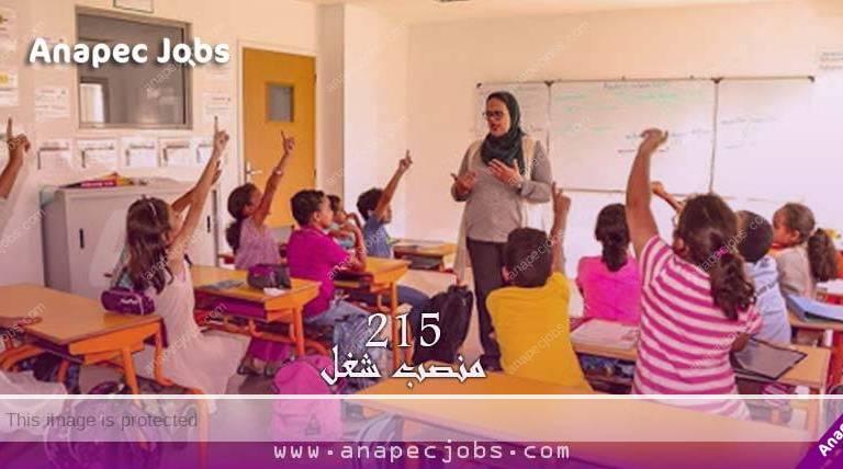 أستاذا للتعليم الخصوصي والتعليم الأولي .. مطلوب 215 منصب شغل