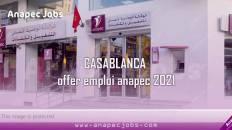CASABLANCA offer d'emploi anapec 2021