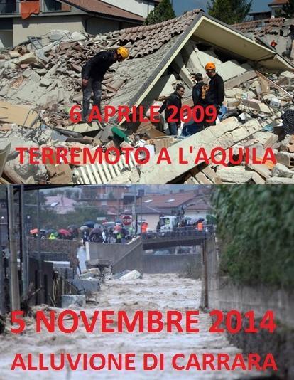 A Carrara nessun responsabile a L'Aquila il fatto non sussiste.