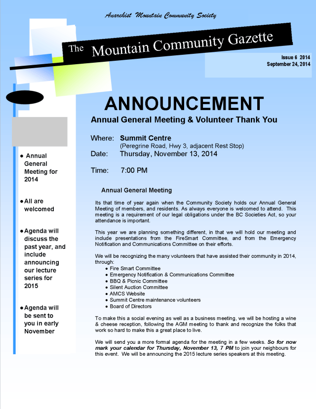 AMCS-AGM Announcement 2014