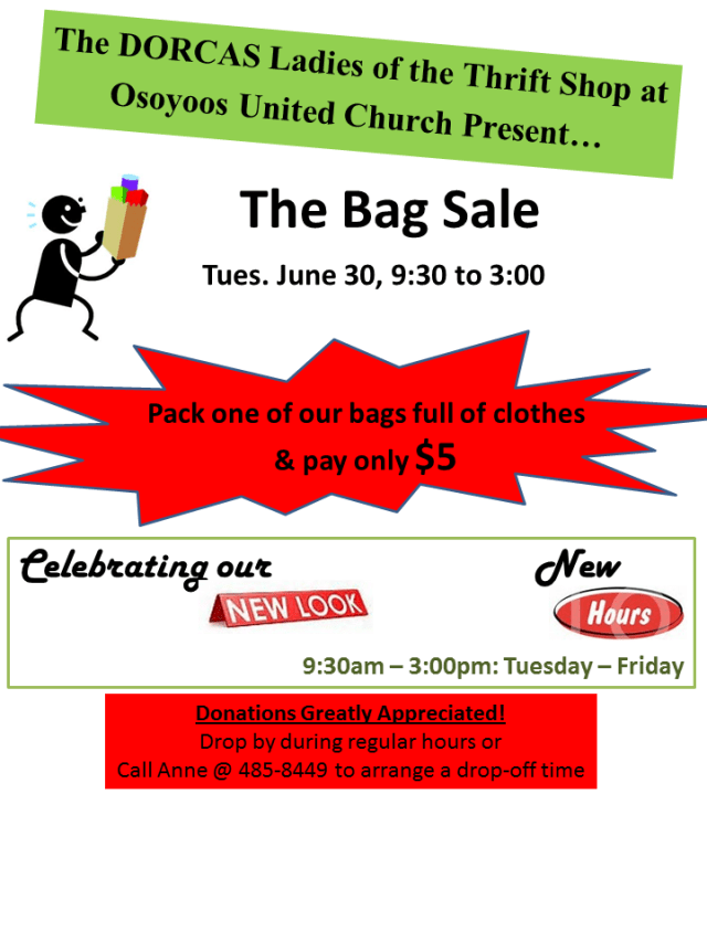 The Bag Sale - June 2015