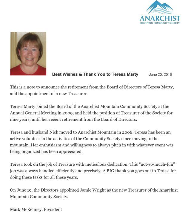 Teresa Retirement