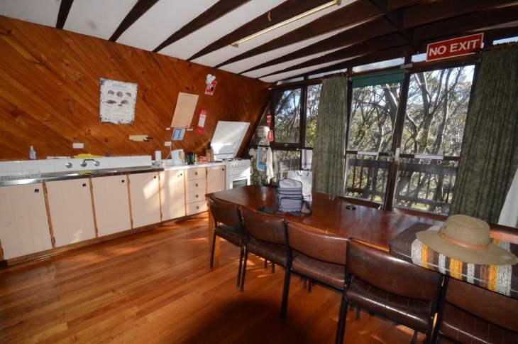 ANARE Ski Lodge - Kitchen looking to northern balcony.