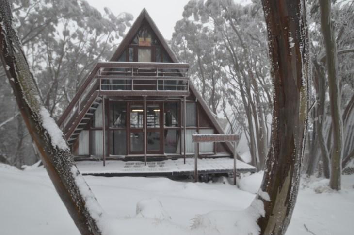 ANARE Ski Lodge white season - from the raod (south)