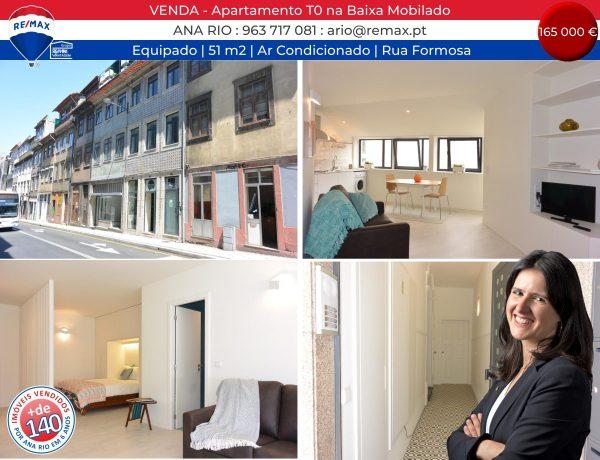 140 VENDA - Apartamento T0 na Baixa Mobilado