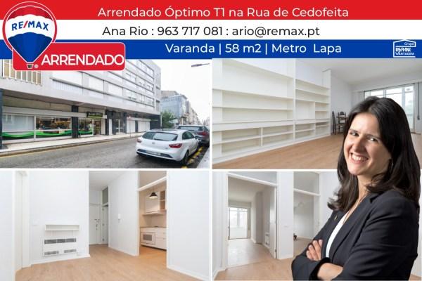 ARRENDADO - Óptimo T1 na Rua de Cedofeita