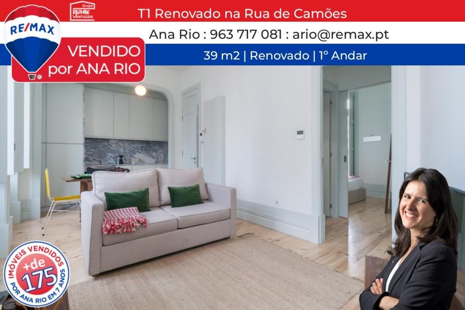 Vendido T1 Renovado na Rua de Camões