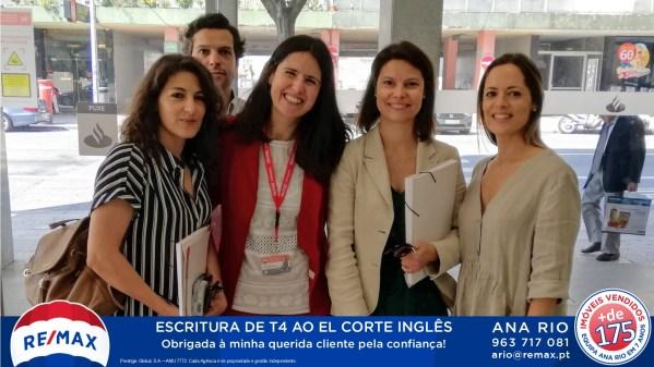 Escritura de T4 ao El Corte Inglês