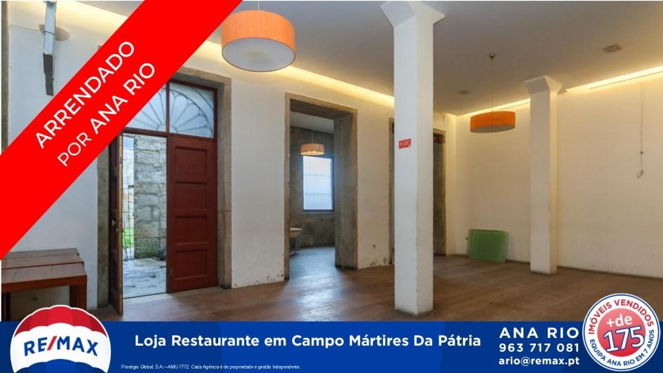 Arrendada Loja Restaurante em Campo Mártires da Pátria