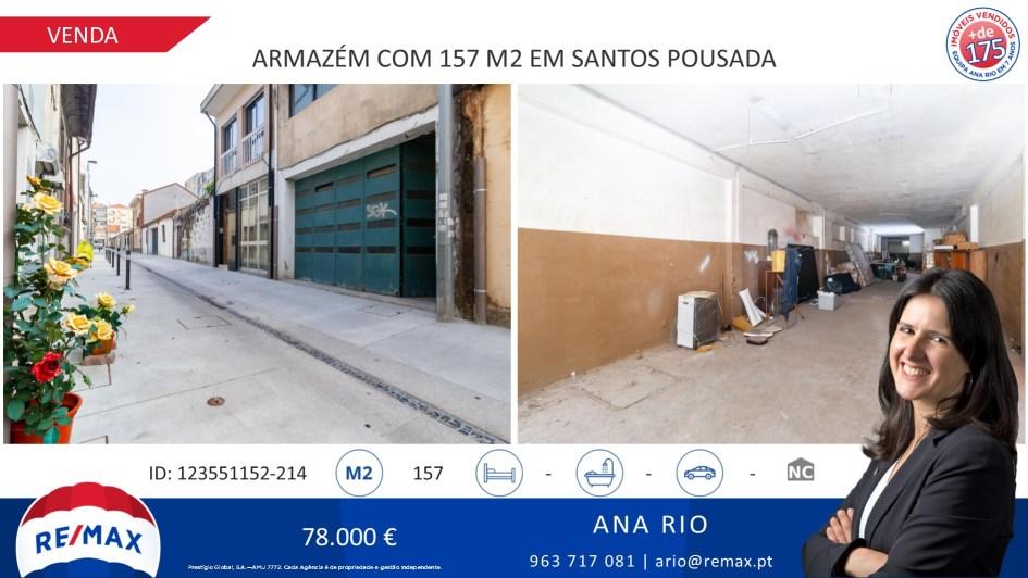 Venda Armazém com 157 m2 em Santos Pousada